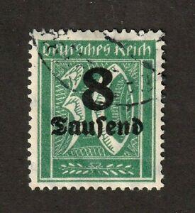 Germany-stamp-242a-wmk-126-light-cancel-no-defects-geniune-CV-6000-00
