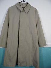 Vintage Outwear Sears Size 40 Short Beige Tan Trench Pea Coat  Men's