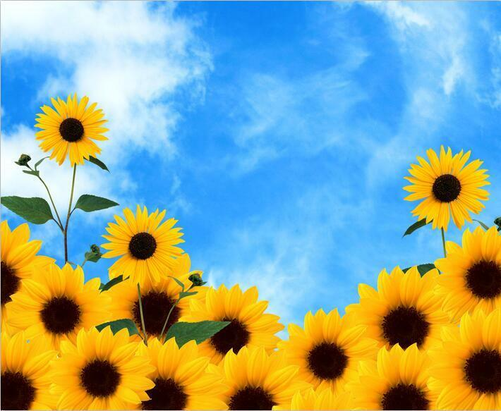 3D Bright Sunflowers 26 WallPaper Murals Wall Print Decal Wall Deco AJ WALLPAPER