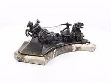 "73421-dss escultura de bronce ""ruso"" huí caballos lucha carro nuevo"