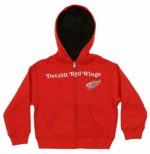 Red Outerstuff NHL Kids Detroit Red Wings Stated Full Zip Hoodie
