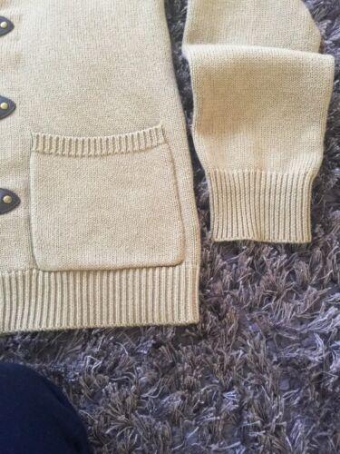 Lauren Rrp Ralph Shawl Cardigan 100 £865 Size Bnwt Cotton L Authentic FAdnq