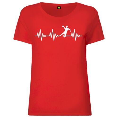 Herzschlag Handball Damen T-ShirtEkgHandballerHandballspielSport