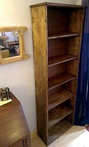 Image Is Loading Bookcase Bookshelf Handmade Uk From Solid Eco Wood