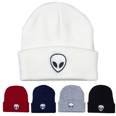 CottonAlien Pattern Knitted Candy Color Explosion Hats Cap Cool Hat Unisex Hot