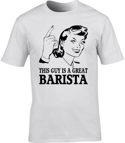 Barista Mens T-Shirt Gift Idea Coffee Occupation Cafe Work Job Workplace Present