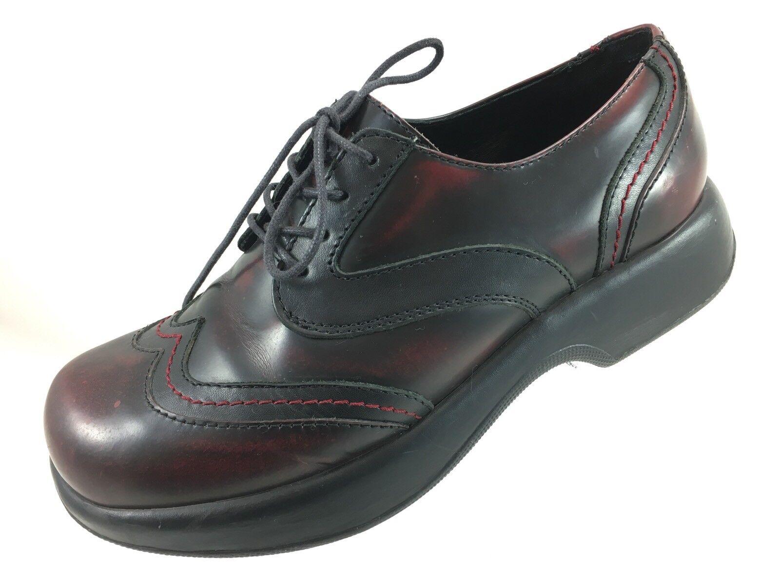 SH24 Dansko US 9.5-10 Brown Oxblood Leather Oxford Wingtip shoes