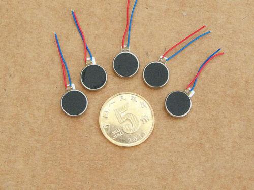 5PCS 10*2.7mm DC 2V-6V 3V Button Type Vibration Motor Micro Flat Motor for DIY
