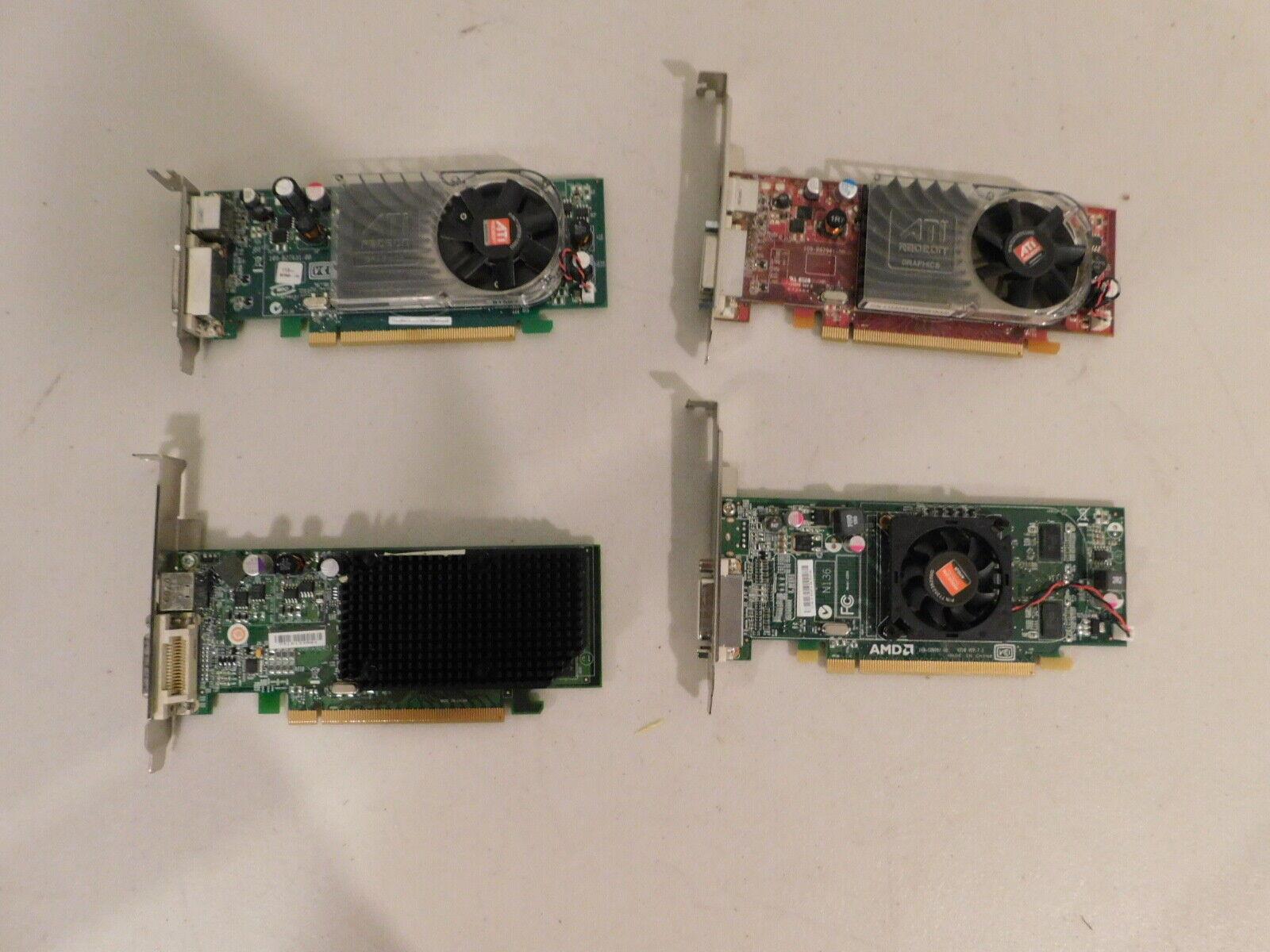 Lot of 4 AMD/ATI PCI-E x16 Desktop Video Graphic Cards 236X5 0GJ501 0X398D 0XX35