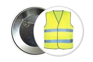 Badge-Pin-Button-38-mm-Pass-Le-Gilet-Jaune-Les-Gilets-Jaunes-France-2018