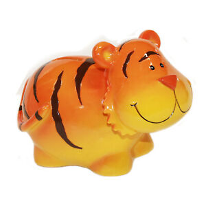 Orange Tiger with Chubby Cheeks Coin Bank