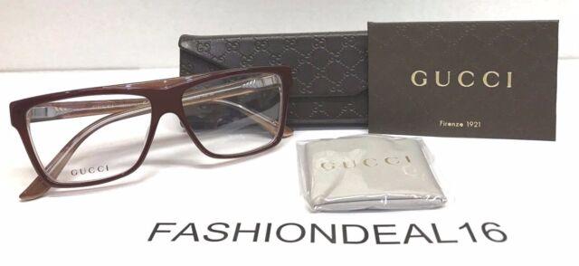 New GUCCI Authentic w/TAGS Dark Tabasco GG3545 5GJ 55mm Eyeglasses