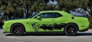 2008-2019-Dodge-Challenger-SRT-Demon-Side-Vinyl-Decals-Graphics-Sticker-Set
