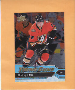 2016-17-UPPER-DECK-YOUNG-GUNS-ROOKIE-SILVER-FOIL-489-ONDREJ-KASE-ANAHEIM-DUCKS