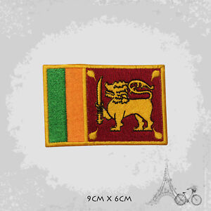 Sri Lanka National Country Flag Patch Iron On Patch Sew On Embroidered Patch