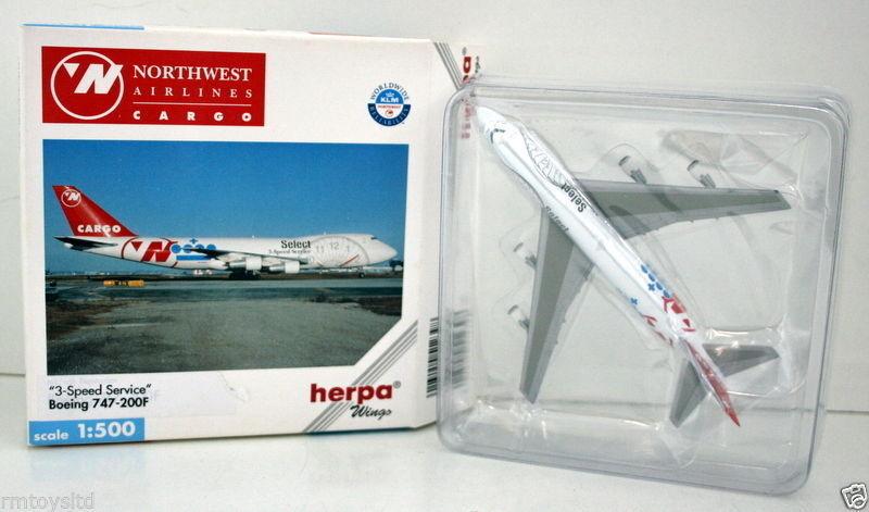 hasta un 60% de descuento HERPA 1 500 500 500 - 512398 BOEING 747-200F 3 SPEED SERVICE NORTHWEST AIRLINES  online al mejor precio