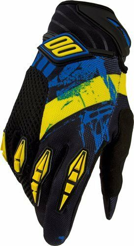Shot Cross Enduro Guanti devo SPARK NERO-GIALLO-BLU TG 8-13 s-3xl