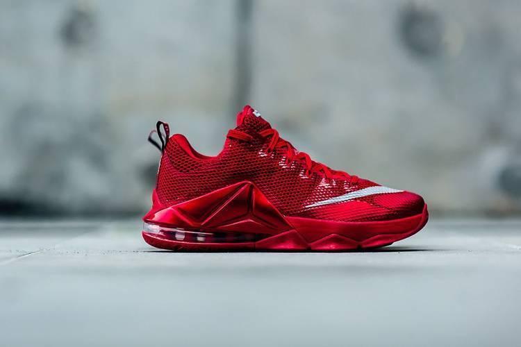 Mens Nike Air Lebron XII Low SKU Sneakers New, University Red SKU Low AA d45495