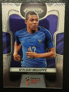 Lot-574-2018-Panini-Prizm-World-Cup-Kylian-Mbappe-Rookie-Card-RC-80-France