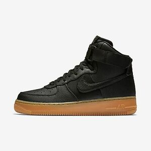 New Nike Women's Air Force 1 High SE Shoes (860544-002)  Black/Dark Grey/Gum