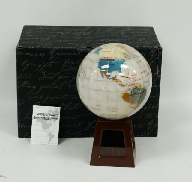 Things Remembered Desk Size Gemstone Globe With Stand Original Box