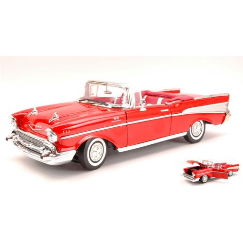 CHEVY BEL AIR 1957 rosso 1 18 Auto MotorMax Auto 18 Stradali Die Cast Modellino 7609ad
