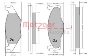 Scheibenbremse für Bremsanlage Vorderachse METZGER 1170103 Bremsbelagsatz