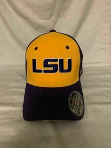 LSU Tigers NCAA Zephyr Yellow/Purple One Size Stretch Fit Hat Cap Brand New