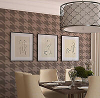 Houndstooth Wall Stencil - Large Reusable Stencils For Diy Wall Decor And Crafts