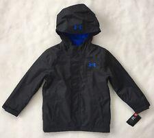 UNDER ARMOUR Boys Winter Coat SIZE 4 Wildwood 3 In 1 Storm Jacket Black NEW $120