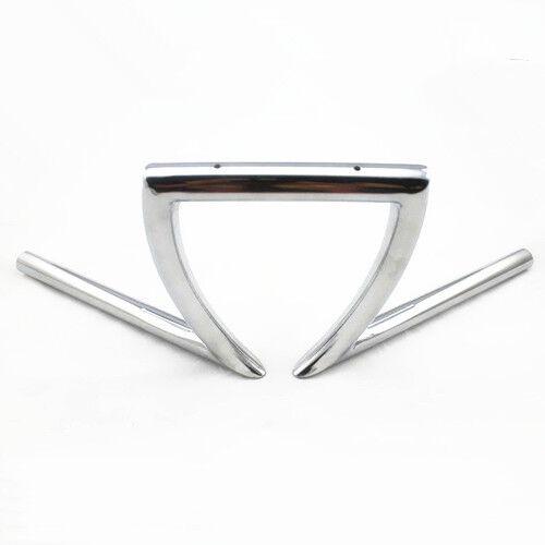 """Chrome 1/"""" Drag Handlebars Z Bars for Harley Motorcycle Cruiser Custom Touring"""