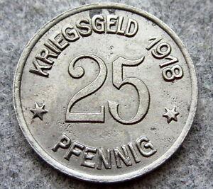 GERMAN-NOTGELD-PROVINCE-RHINE-CITY-OF-COBLENZ-1918-25-PFENNIG-KRIEGSGELD-IRON