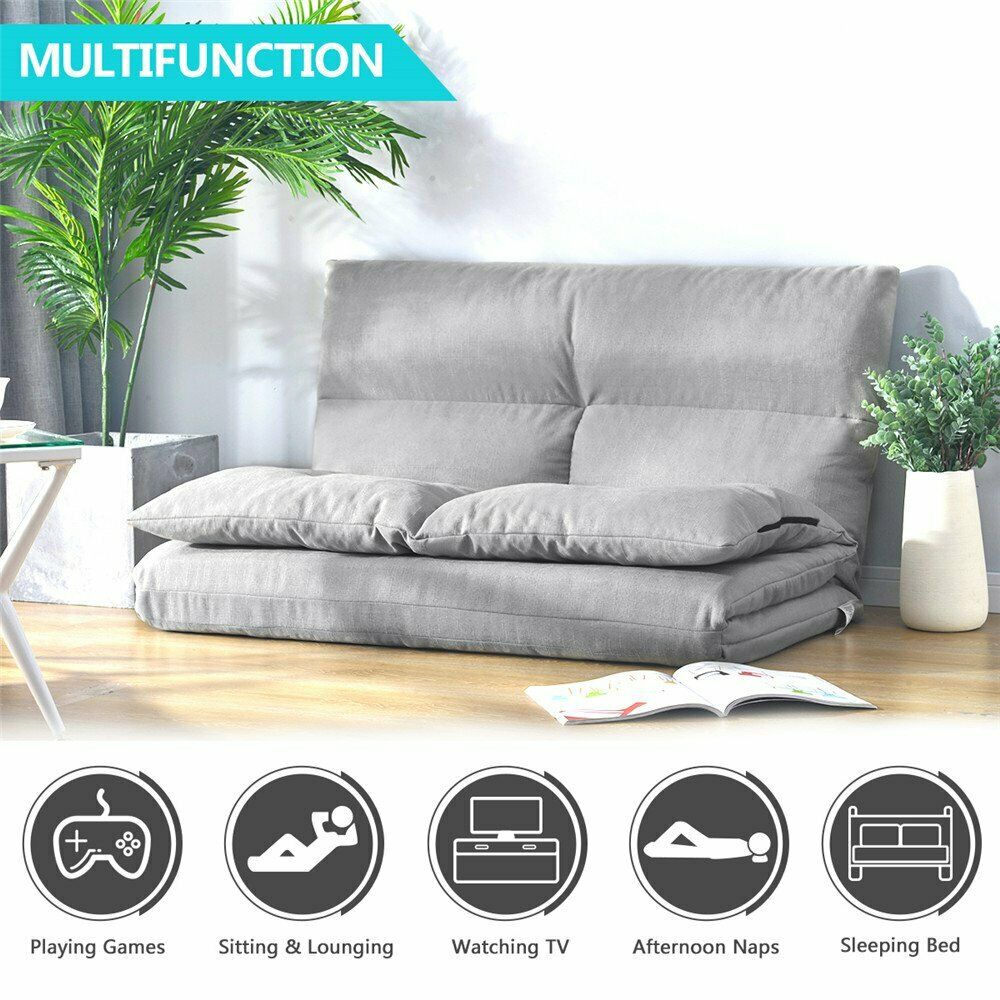 Futon Chair Sofa Bed Daybed Floor Furniture Folding Living Room Bedroom Set