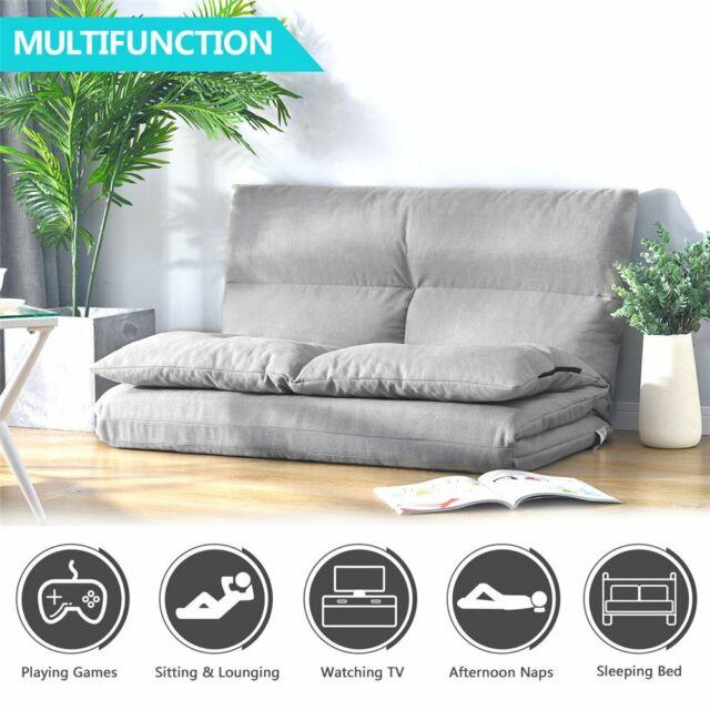 Futon Chair Sofa Bed Daybed Floor Furniture Folding Sofa Living Room  Bedroom Set