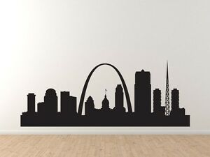 home decor stores in st louis mo american city skyline st louis arch silhouette 13363