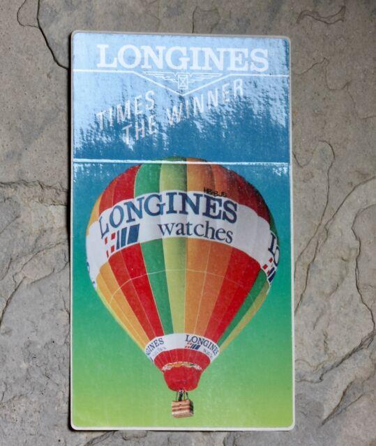 Vintage Longines watch dealers window display sticker Made in Switzerland NOS