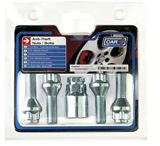 12 x 1.25mm Anti Theft Locking Wheel Bolt Nuts + Key for Peugeot 206, 307 & 106