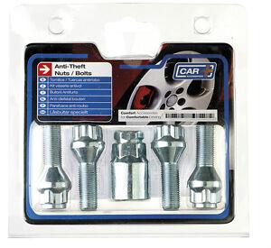 Butzi 12x1.50 Chrome Anti Theft Locking Wheel Bolt Nuts /& 2 Keys for Kia Carens