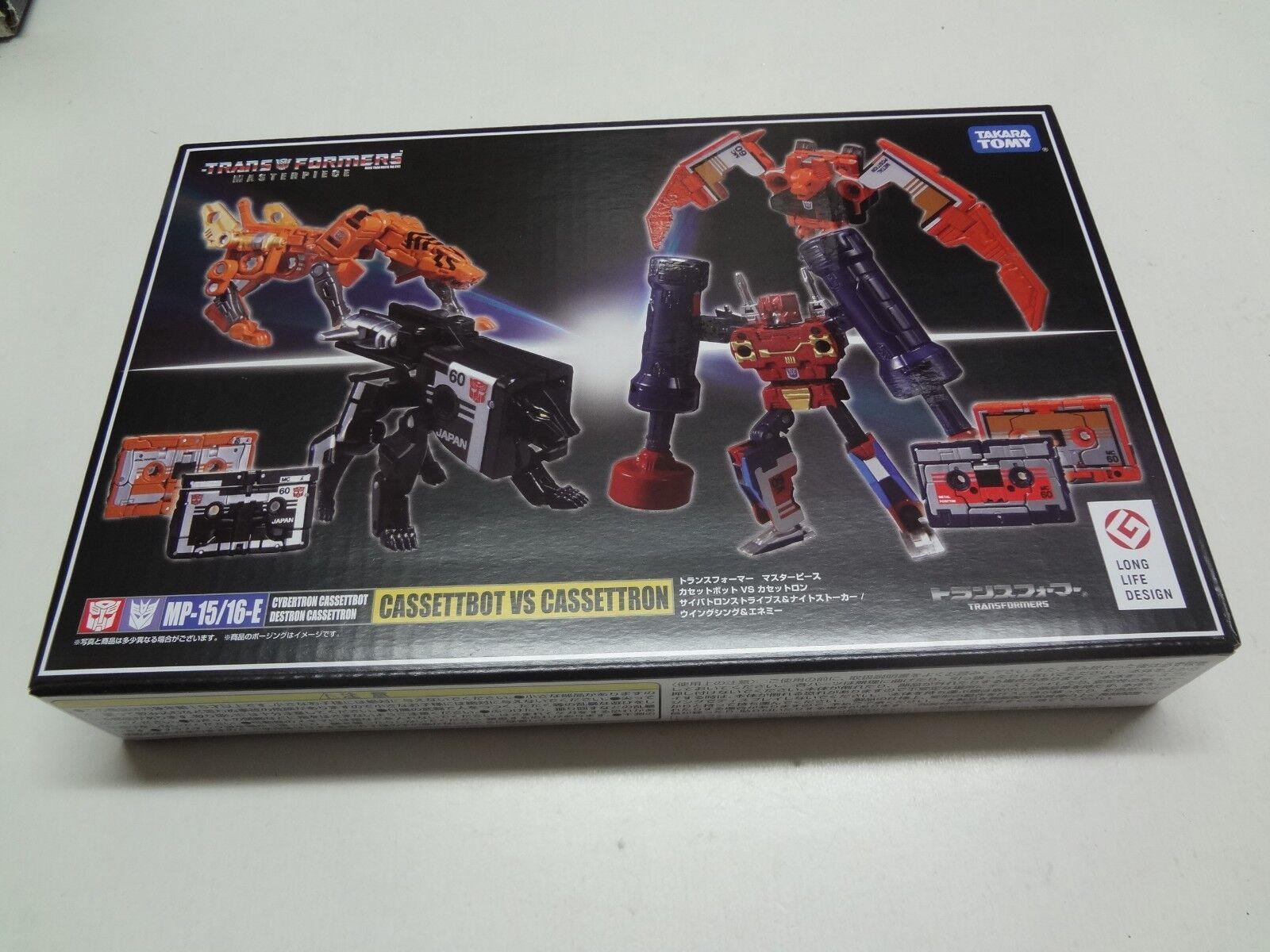 Transformers Masterpiece MP-15/16E Cassetbot VS Cassettron Takara Tomy Japan NEW