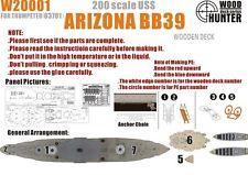 Hunter W20001 1/200 Wood deck USS Battleship Arizona for Trumpeter
