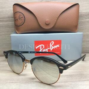 f6b27d8ecb Image is loading Ray-Ban-RB-4246-Clubround-Sunglasses-Black-Rose-