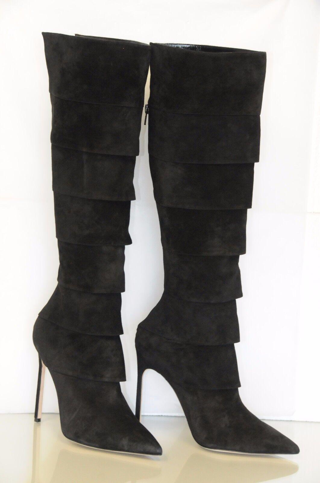 Nuevo Manolo Blahnik Degenerada ante Negro Bb 115 botas botas botas Tacón Zapatos 40 Sexy  Nuevos productos de artículos novedosos.