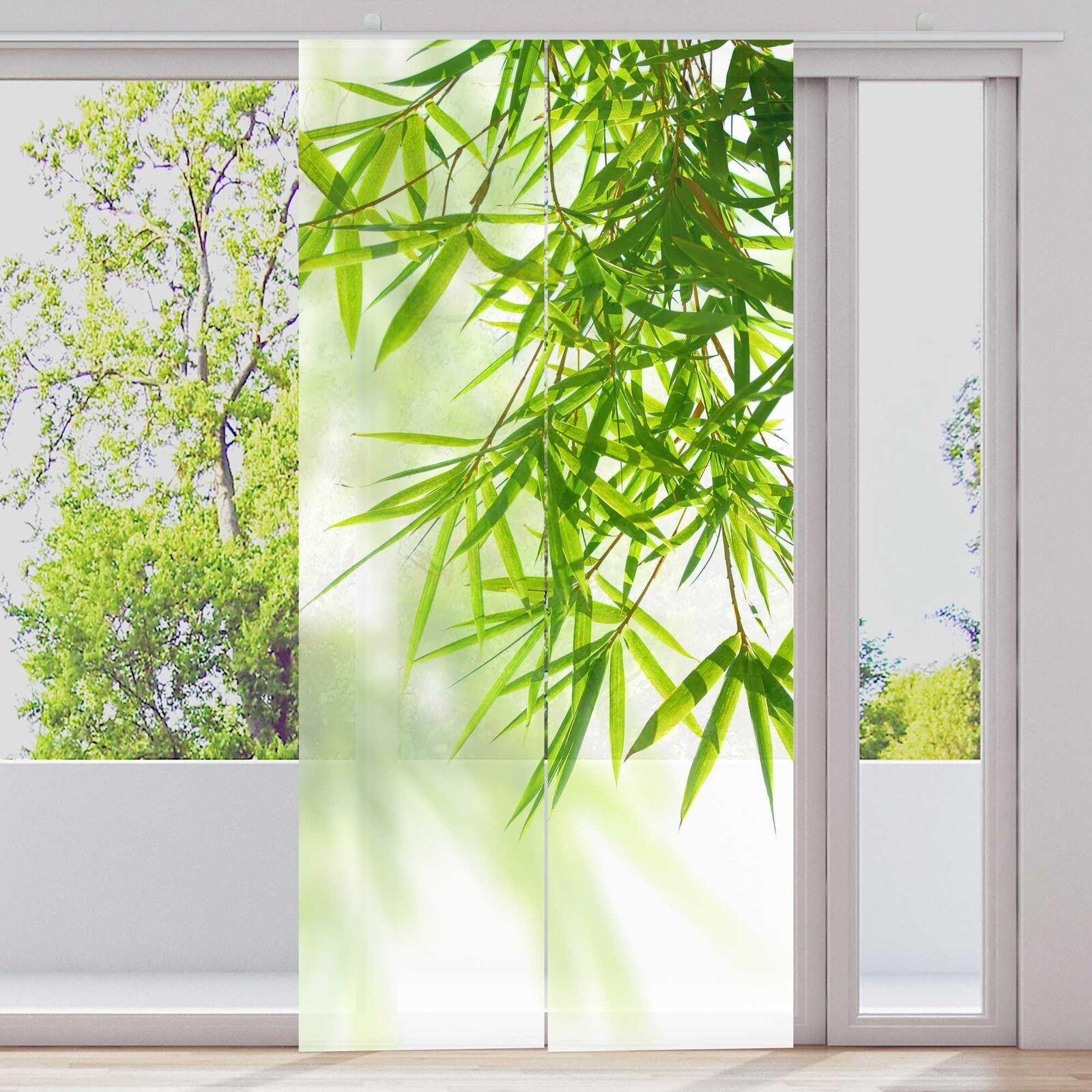 Scorrevoli sipario  appendere bambù foglie  2-tl. per 60x245cm   superfici SIPARIO