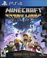 Minecraft Story Mode Season Pass Disc Sony Playstation 4