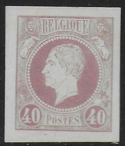 Belgium Stamps 1864 40c Proof Lemaire Ung As Issued Vf Ebay