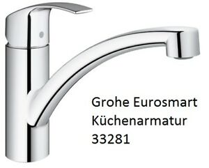 grohe eurosmart k chenarmatur 33281 sp ltischmischer k che einhebel einhand ebay. Black Bedroom Furniture Sets. Home Design Ideas