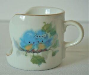 Designers-Collection-BLUEBIRD-Candle-Holder-Fine-Porcelain-Japan-Handle-Vintage