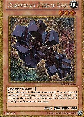 YU-GI-OH SECRET RARE: CHRONOMALY GORDIAN KNOT - PGLD-EN010