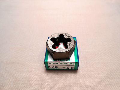 3//8-40 Carbon Steel Hex Die Hexagon Die Hexagonal Die Rethreading Die NEW Japan