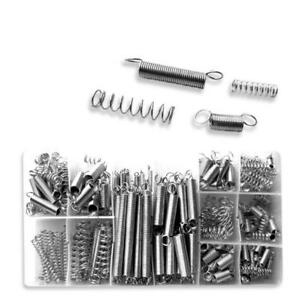 200pc Spring Assortment- 75# Spring Steel, Zinc Plated